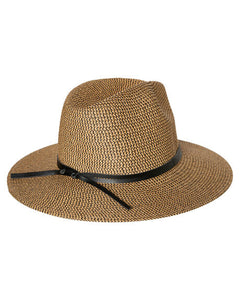 RUSTY Gisele Straw Hat - Black Caramel