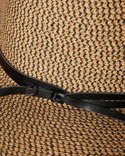 Load image into Gallery viewer, RUSTY Gisele Straw Hat - Black Caramel