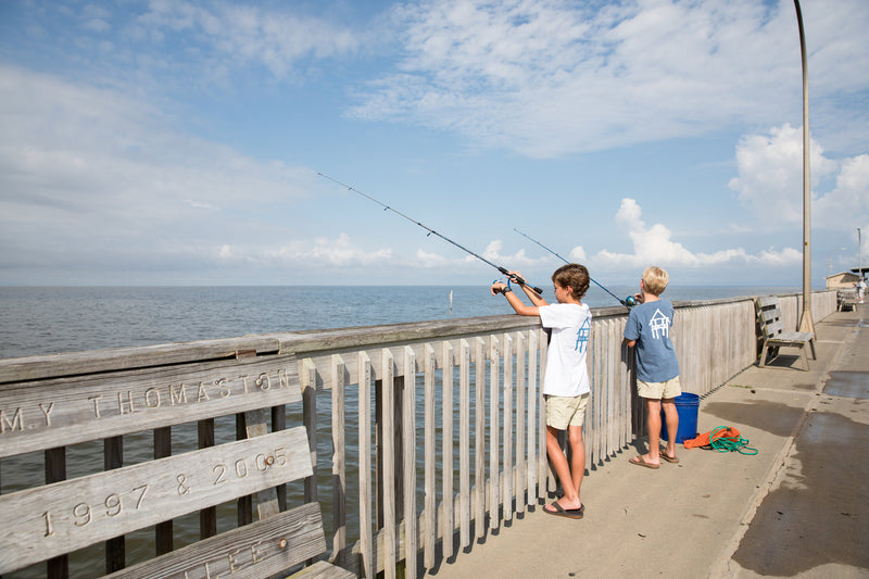 Fish the Pier. Don't Forget your 5 Gallon Bucket.