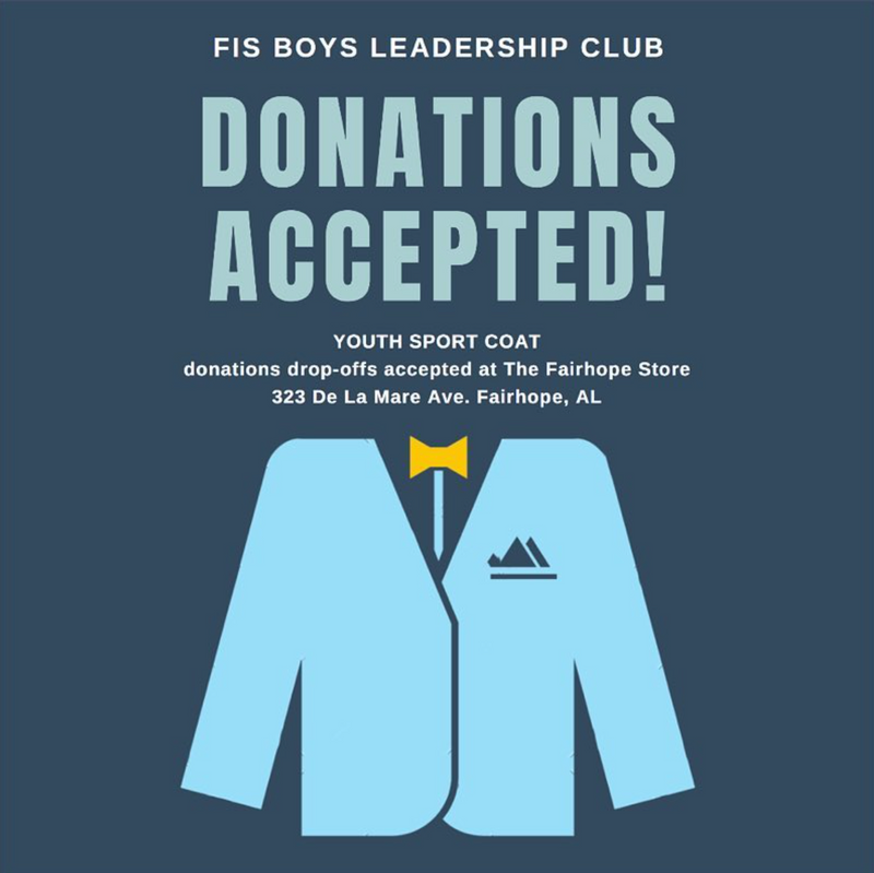 FIS Boys Leadership Club: Sport Coat Donations Accepted!