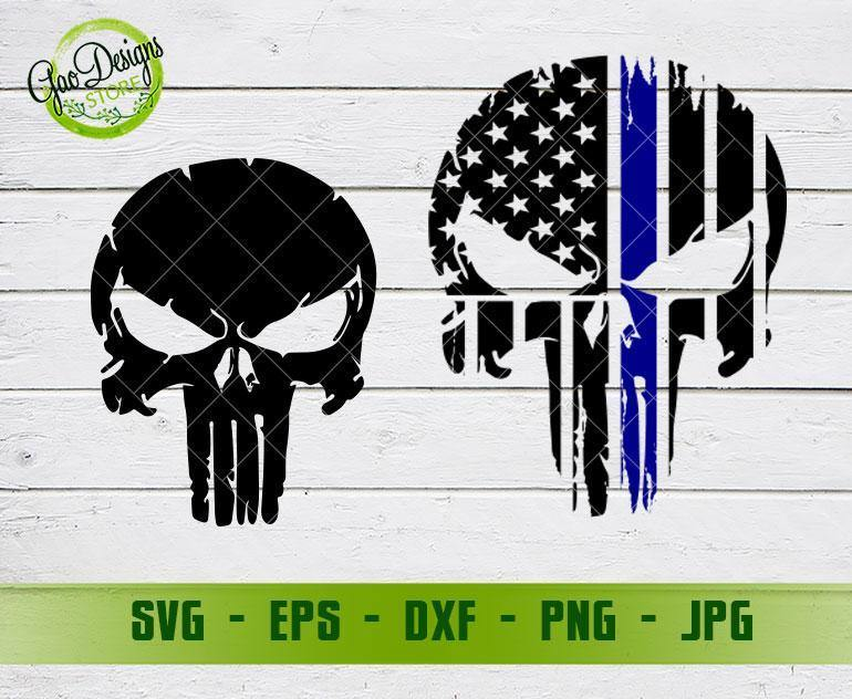 American Flag Punisher Svg Memorial Svg American Flag Punisher Skull Printable File Cricut Silhouette Cut Files Sublimation Iron On Gaodesigns Store