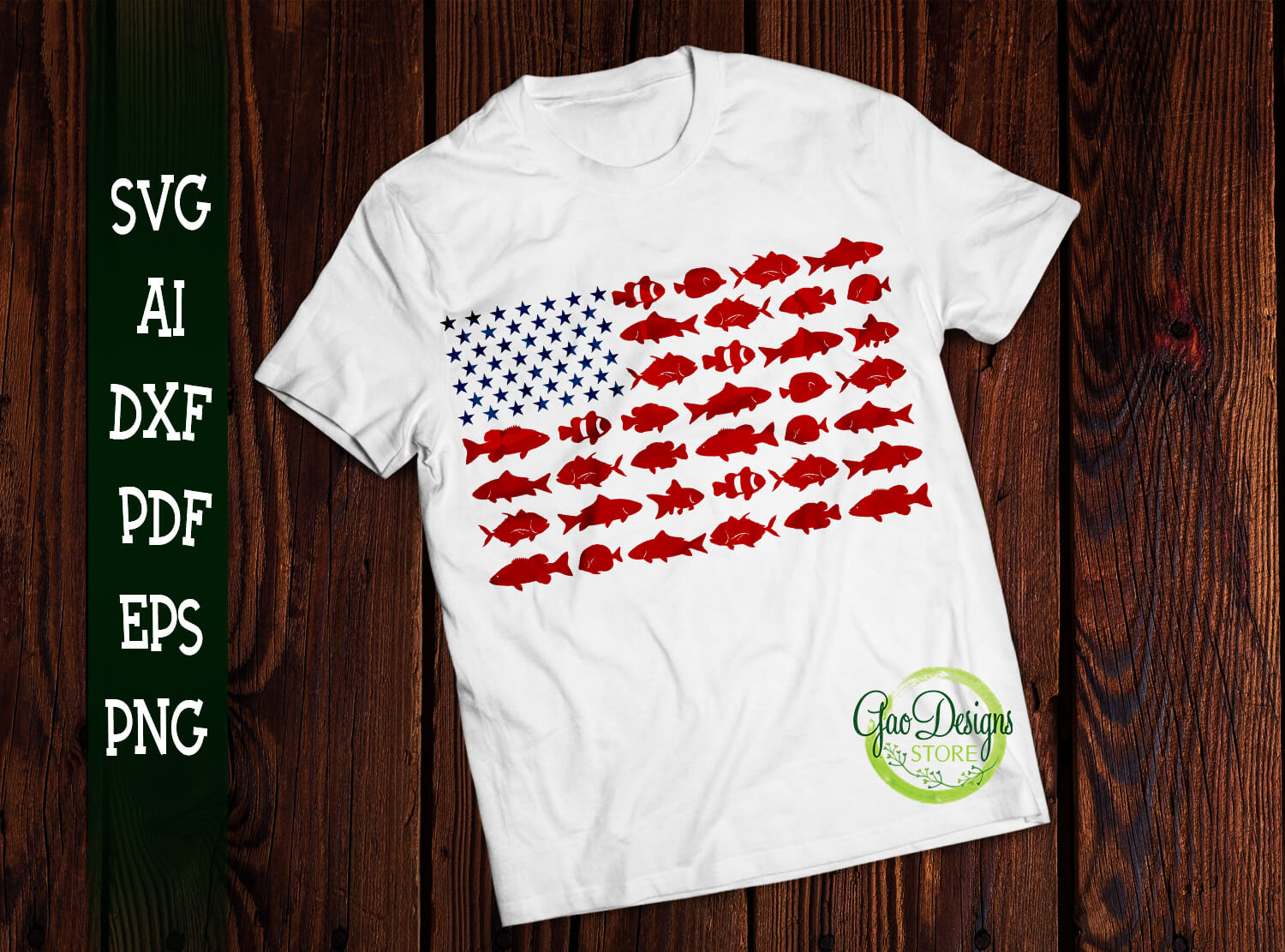 Download Fishing Usa Flag Svg Fishing America Flag 4th Of July Shirt Independence Day Fourth Of July Distressed Us Flag Svg Gaodesigns Store