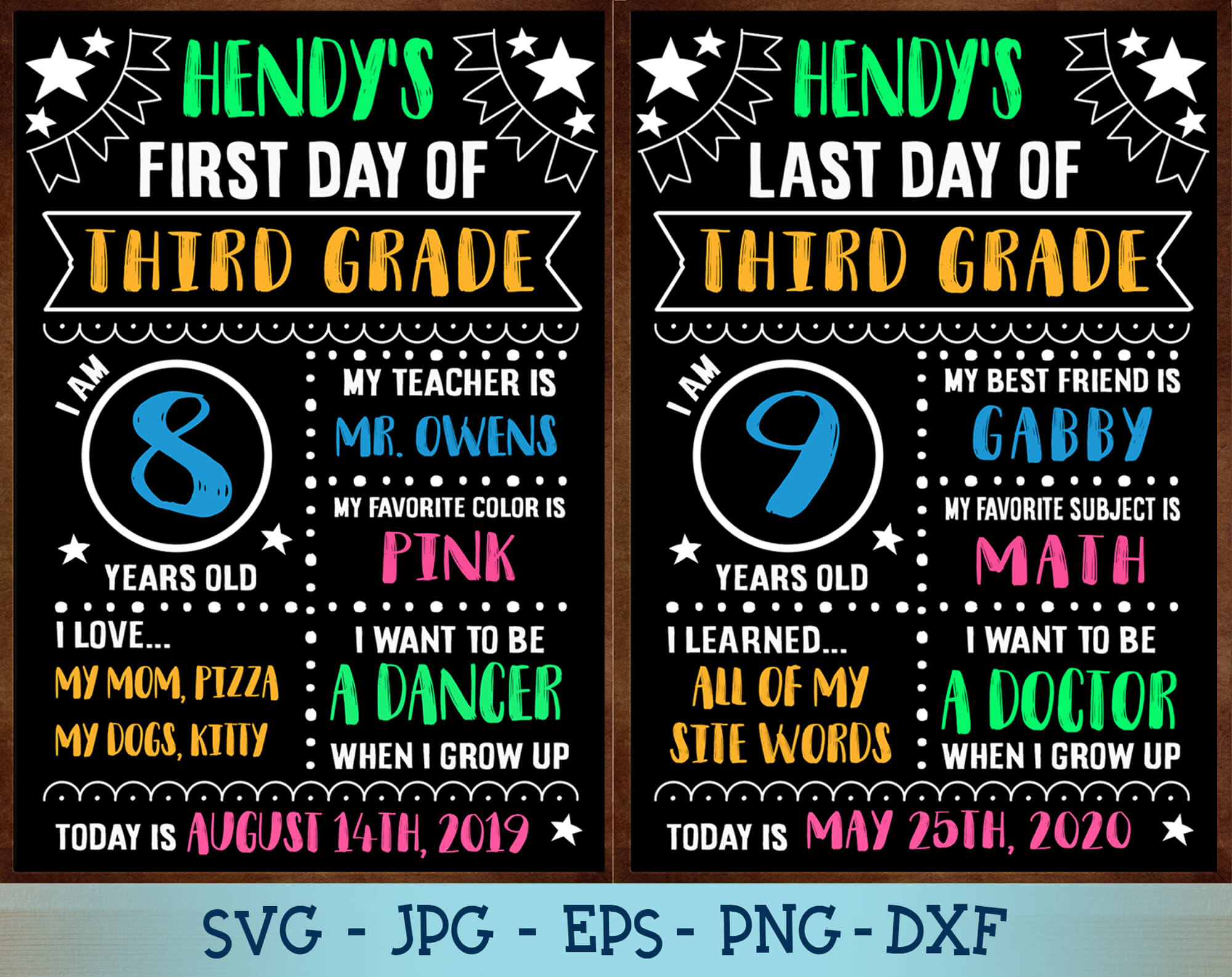First Day Of School Svg Eps Dxf Last Day Of School Svg Silhouette File Cricut Cut File Digital Download Gaodesigns Store
