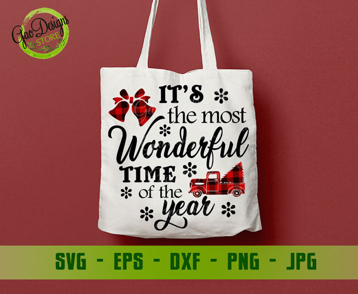 It S The Most Wonderful Time Of The Year Svg Christmas Svg Buffalo Plaid Svg Christmas Svg Designs Christmas Cut Files Cricut Gaodesigns Store