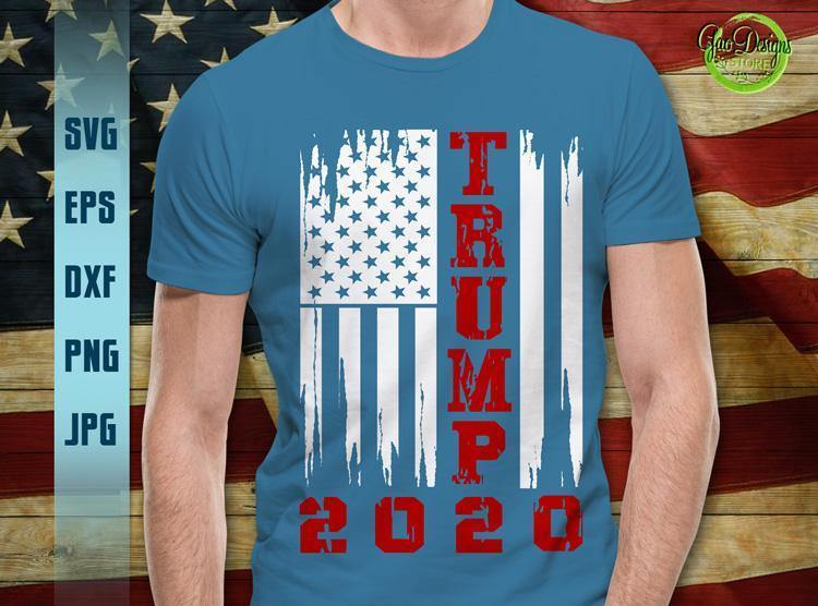 Trump Distressed Flag 2020 Svg Usa American Distressed Flag Svg 4th Of July Svg Election 2020 Svg Trump 2020 Svg Gaodesigns Store