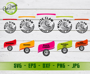 White Claw Svg Hard Seltzer Svg Mango Black Cherry Lime Grapefruit Raspberry White Claw Svg Cut File For Cricut And Silhouette Gaodesigns Store