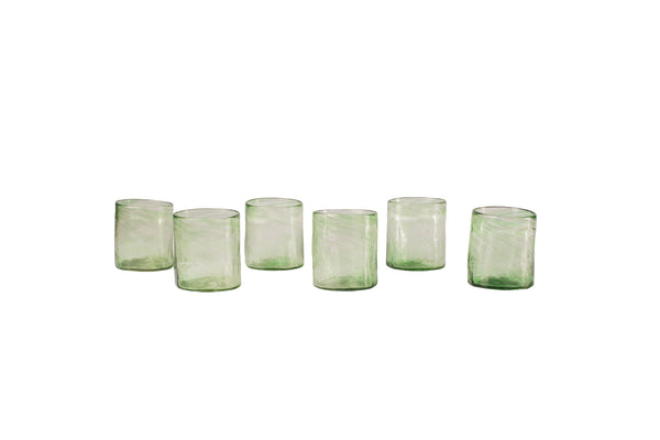 Hand-blown medium glass set