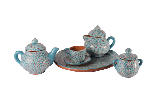 Blue dots tableware set