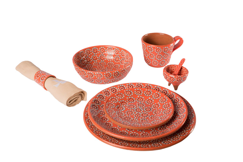 Orange tableware set