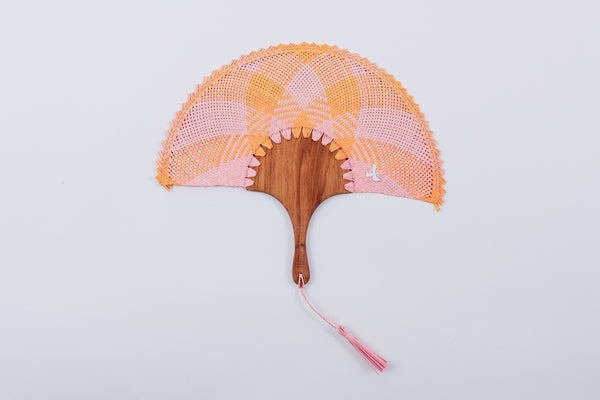 Pink and Orange Fan
