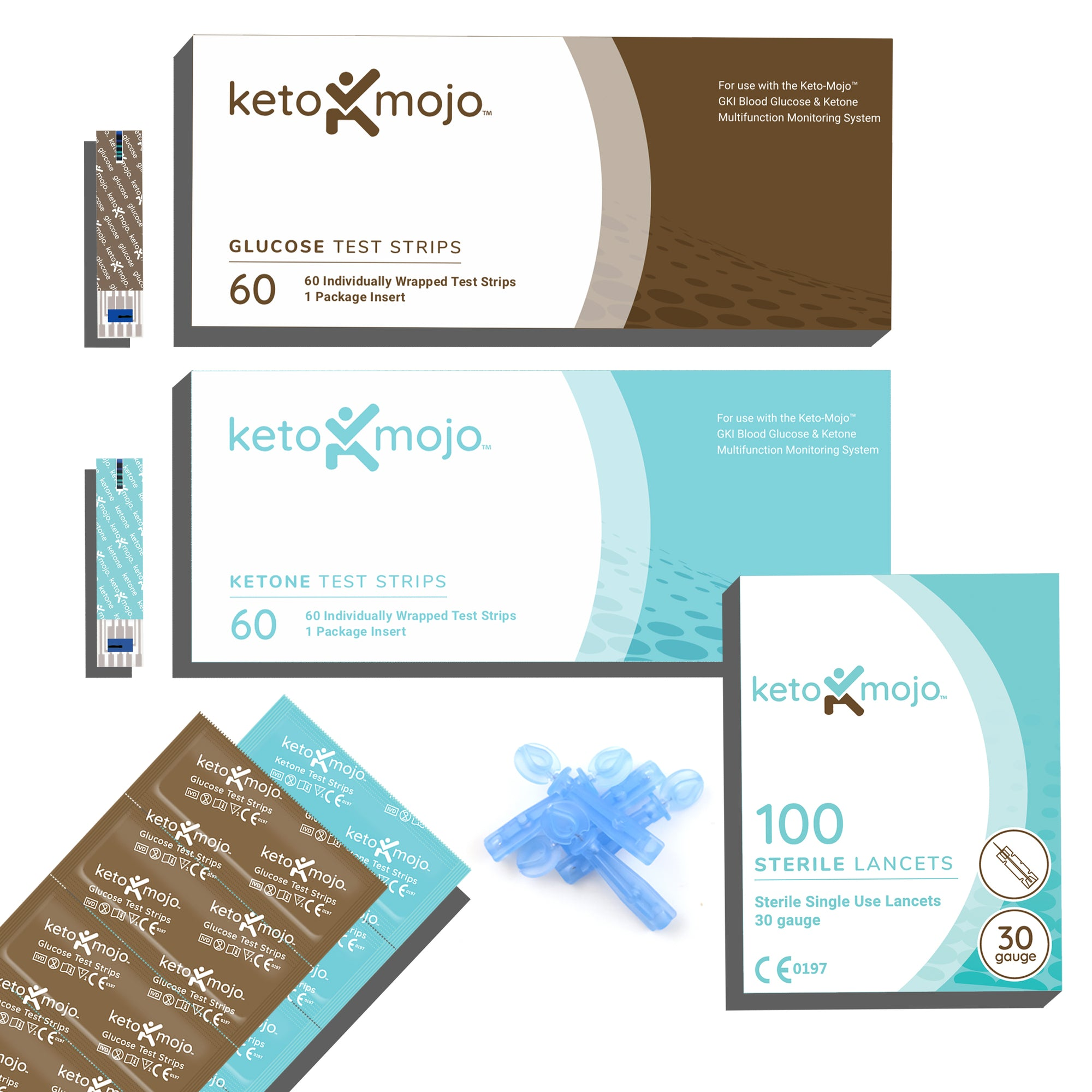 GKI Glucose & Ketone Strip Bundle + Lancets - THE SUPER PACK
