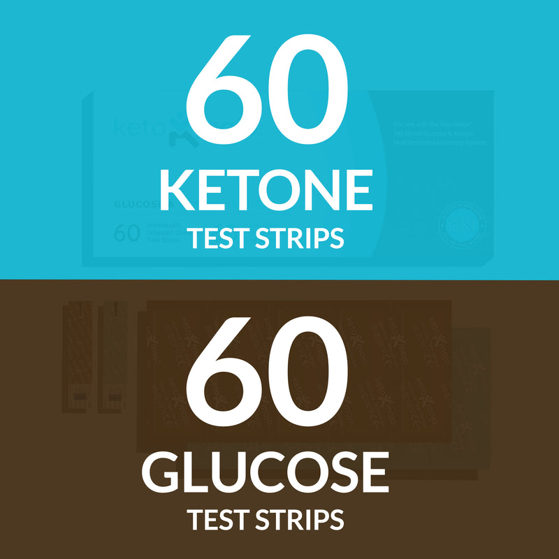 GKI Test Strips (60 Glucose + 60 Ketones) - THE COMBO PACK