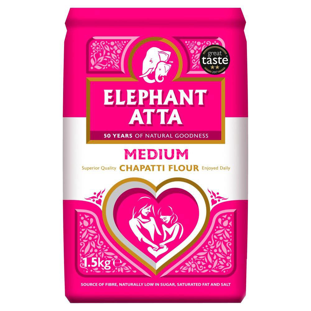 Buy cheap ELEPHANT ATTA MEDIUM 1.5KG Online