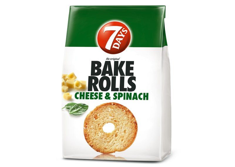 Buy cheap 7 DAYS BAKE ROLL CHEESE & SPINACH 80g Online