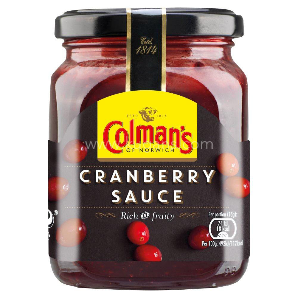 Buy cheap COLMANS CRANBERRY SAUCE 165G Online