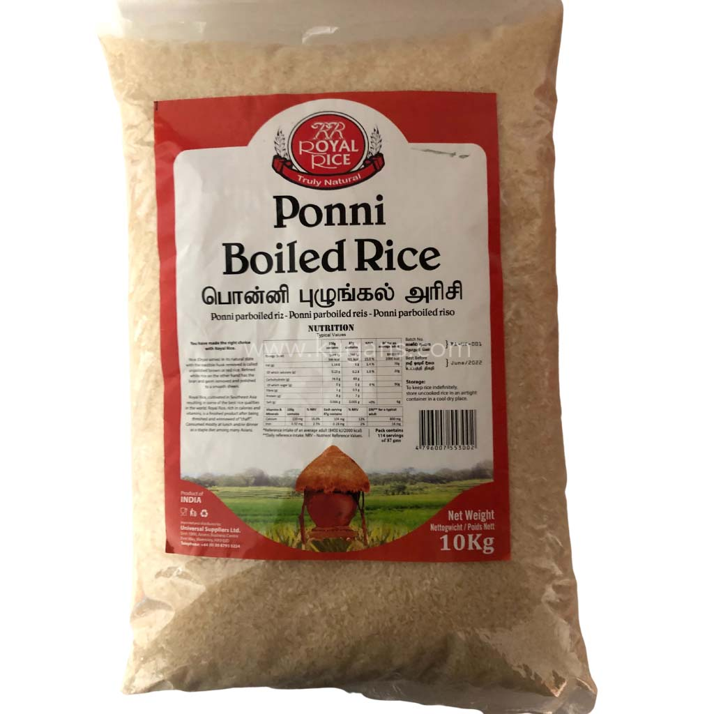 Buy cheap ROYAL PONNI BOILED RICE 10KG Online