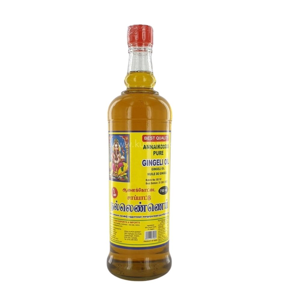 Buy cheap ANNAIKODDAI GINGELLY OIL 750ML Online