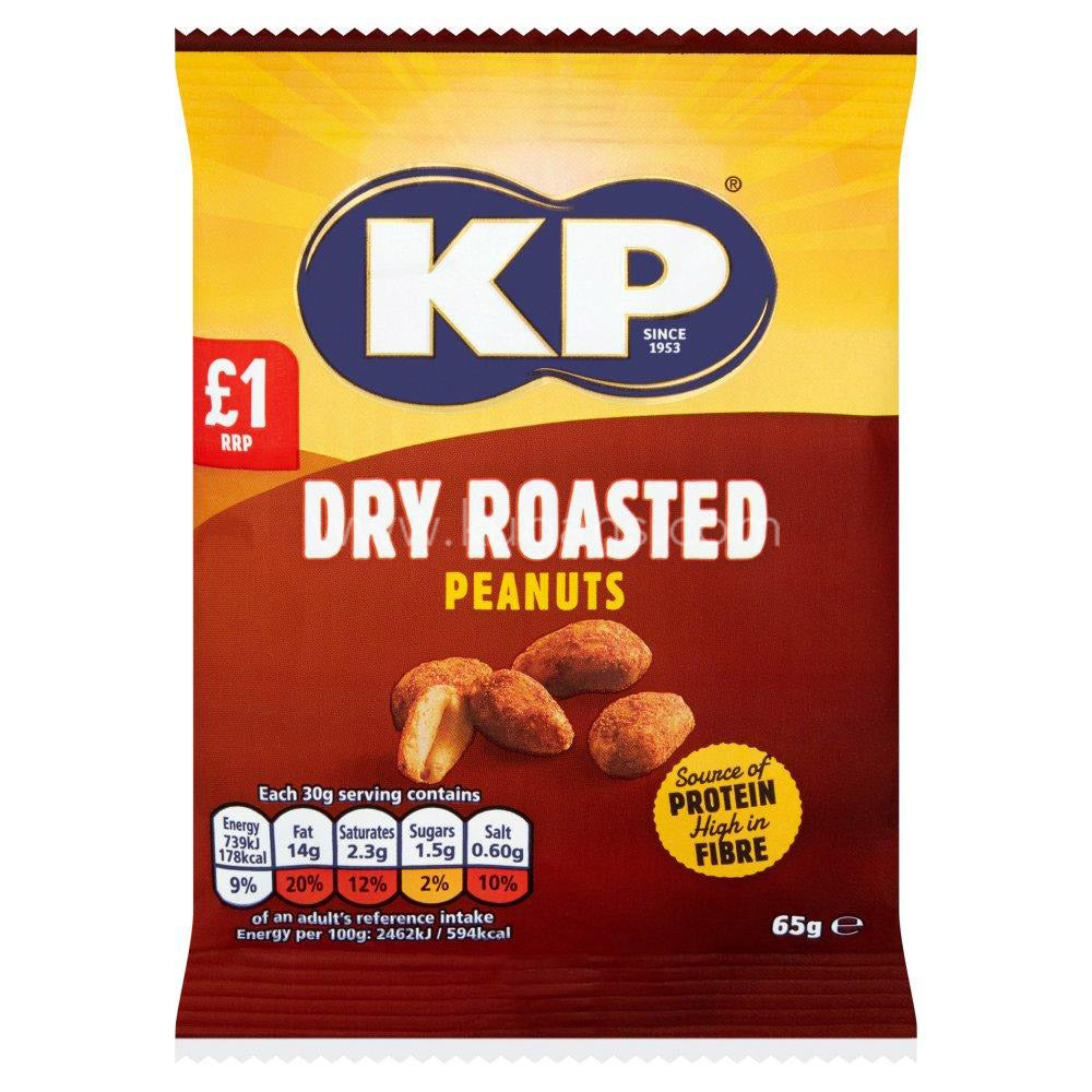 Buy cheap KP DRY ROASTED PEANUTS £1 Online
