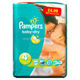 Buy cheap PAMPERS BABY DRY MAXI SIZE 4 Online