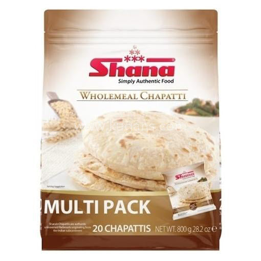 Buy cheap SHANA WHOLEMEAL CHAPATTI 20S Online