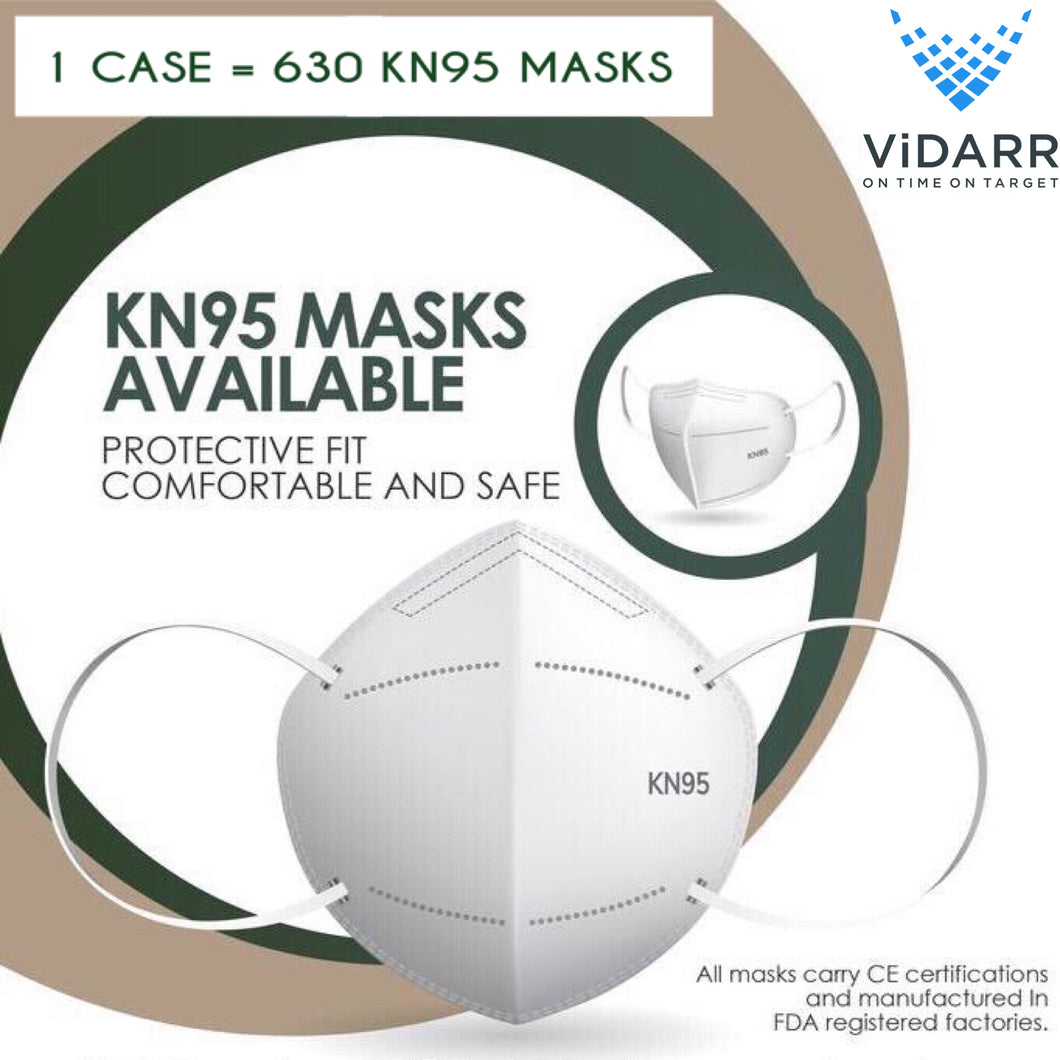 Case KN95 Masks - 63 Boxes (630 masks)