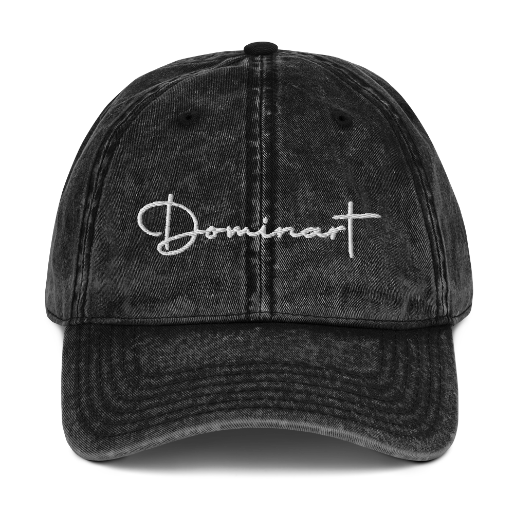 Dominart White Vintage Cotton Twill Cap
