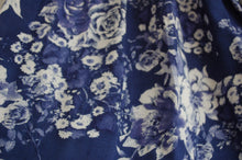 Blue and White Floral Print Pant - Print
