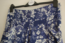 Blue and White Floral Print Pant - elasticated back