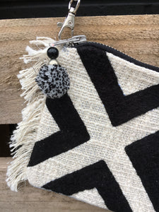 Black & Cream boucle bag