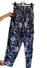 Blue and White Floral Print Pant