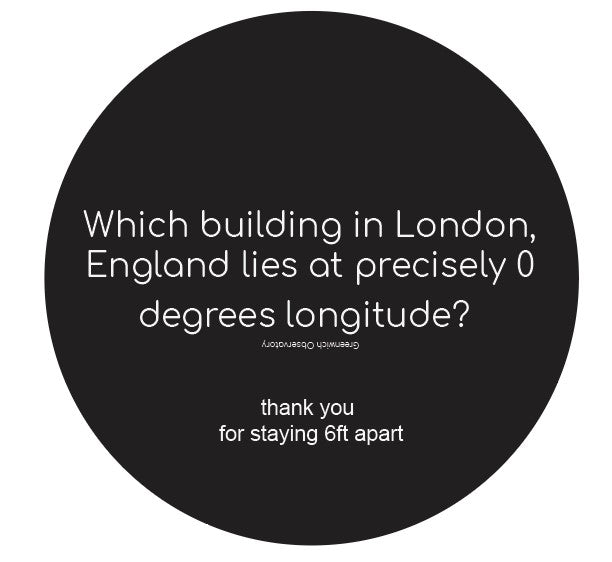 Trivia Building In London Floor Sticker