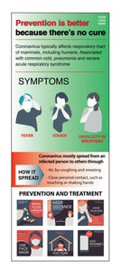 COVID-19 Prevention & Information Retractable Banner #1