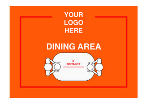 Dining Area Sign