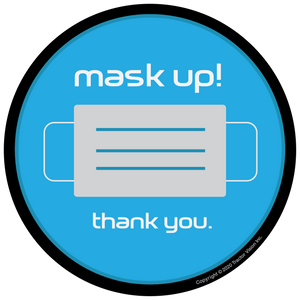 Mask Up Thank You - Face Mask Required Sticker