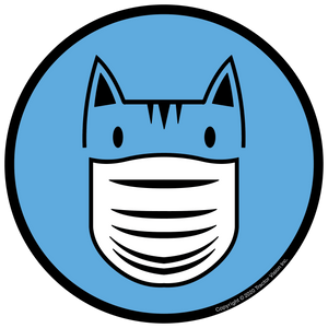 Cat Mask - Face Mask Required Sticker