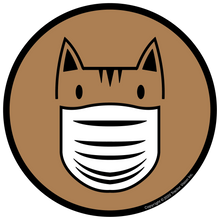 Load image into Gallery viewer, Cat Mask - Face Mask Required Sticker