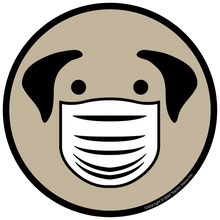 Load image into Gallery viewer, Dog Mask - Face Mask Required Sticker