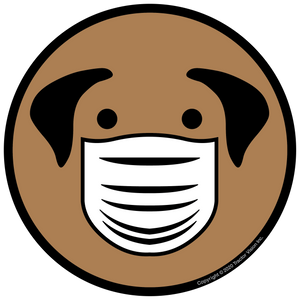 Dog Mask - Face Mask Required Sticker