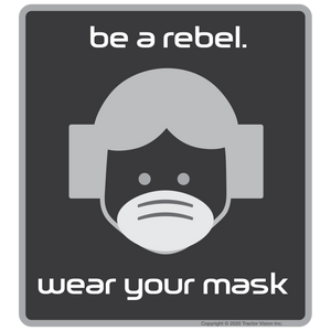Be A Rebel - Face Mask Required Sticker