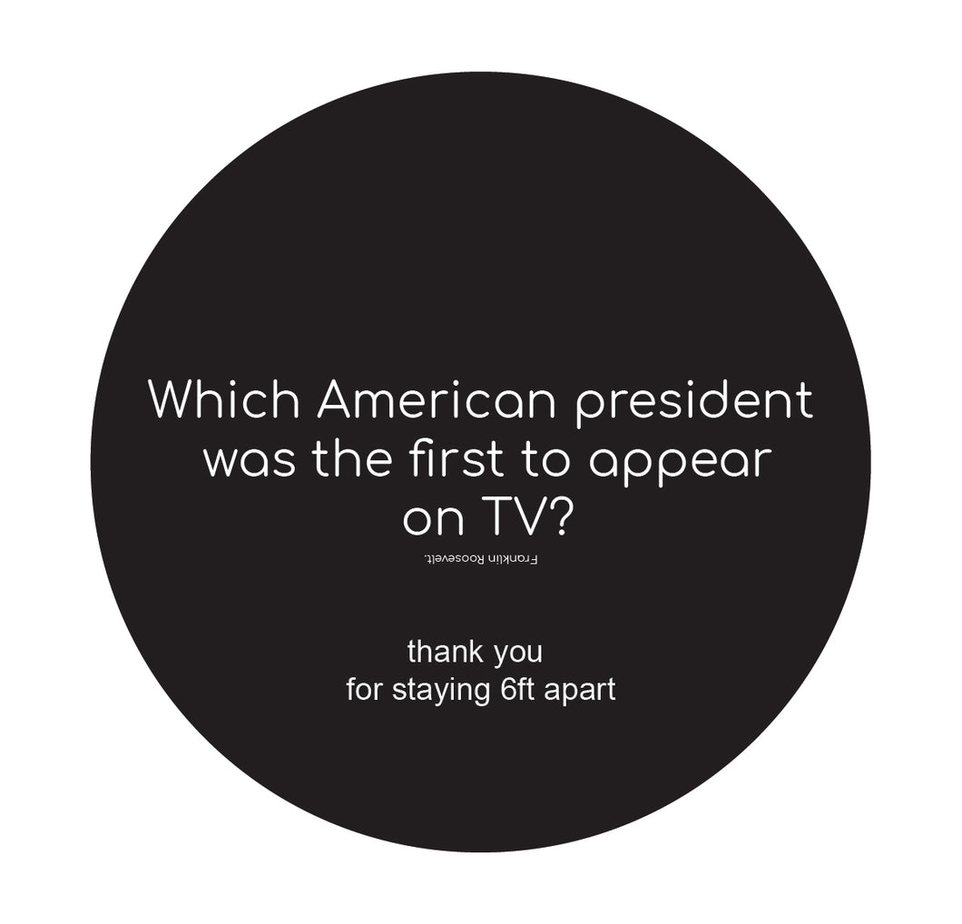 Trivia American President Tv Floor Sticker