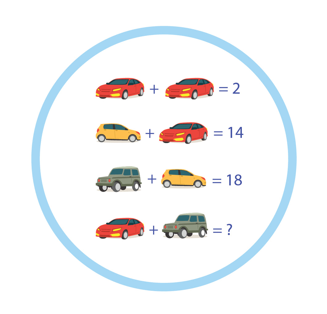 Cars Math Floor Stickers