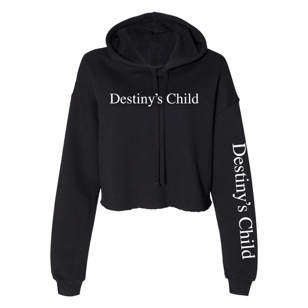 Destiny's Child DC Printed Crop Hoodie