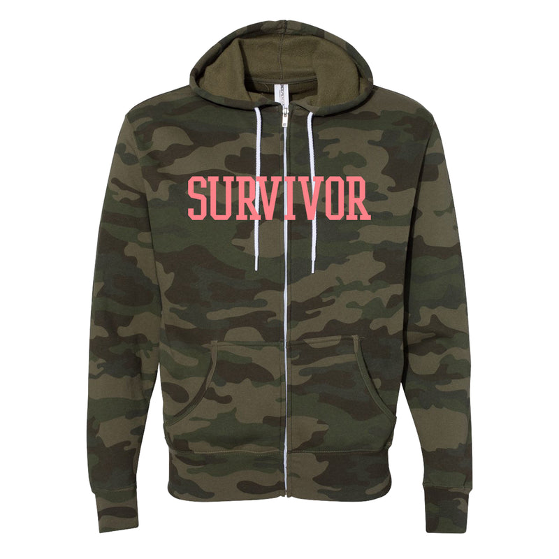 Destiny's Child Survivor Camo Zip Hoodie