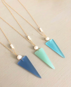 Seaglass Shield Necklaces