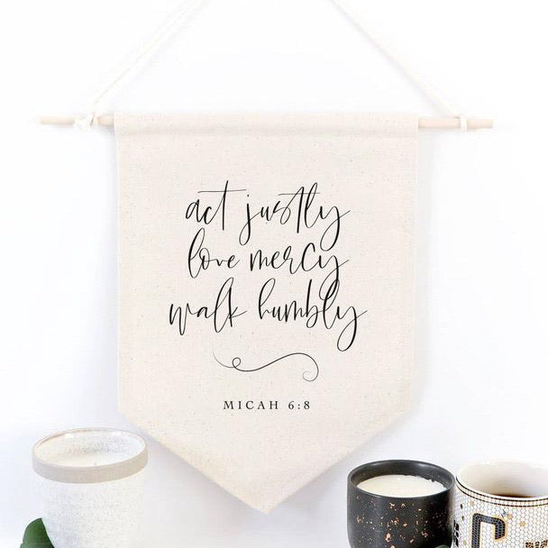 Micah 6:8 Wall Hanging