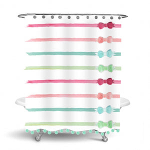 Ribbons and Bows Shower Curtain