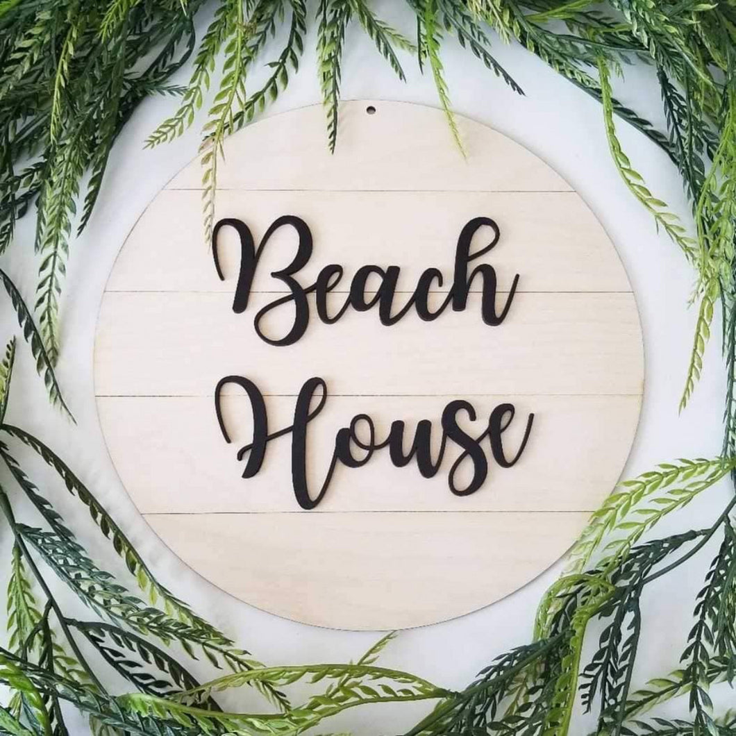 Beach House Shiplap Sign