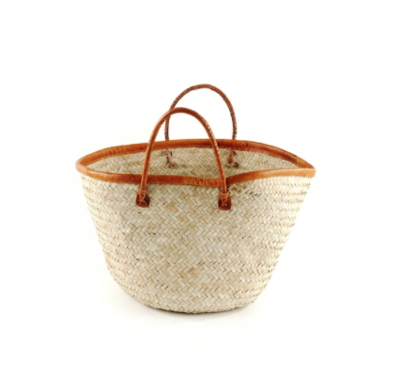Palm Basket with Red Leather - Strange Bikinis
