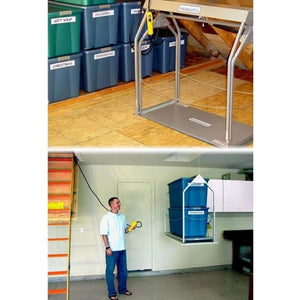 Versa Lift Model 24CH Corded Pendant 11-14 ft - Storage Lift add more garage storage.  Save your garage cabinets.