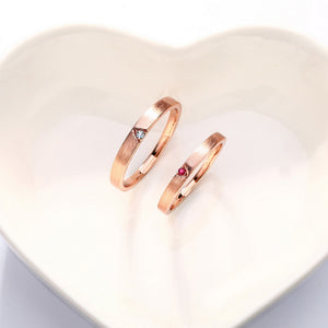 dainty stackable rings in rose gold